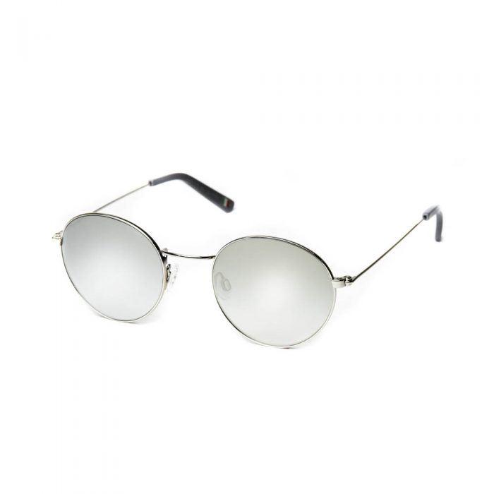 occhiali da sole unisex metallo gomma rotondi