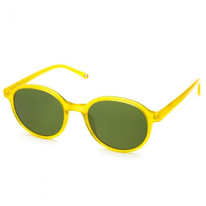 Occhiali da sole unisex arrotondati gialli