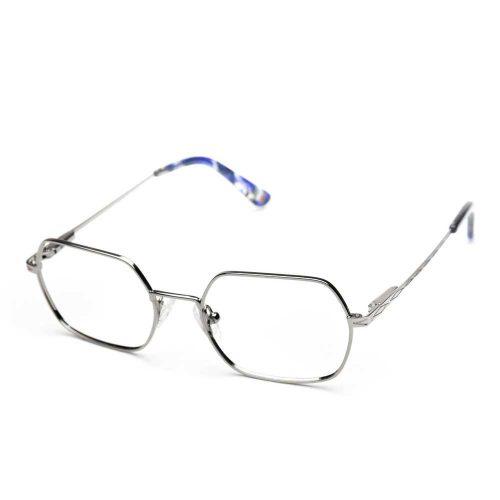 occhiali da vista rombo arrotondati in metallo unisex