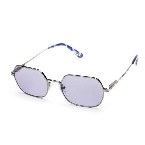occhiali da sole rombo arrotondati in metallo unisex